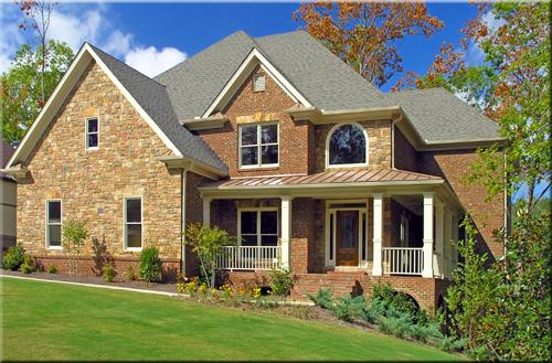 Luxury Home Exterior against blue sky